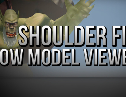 WoW Model Viewer Shoulder and Hairstyle Fix