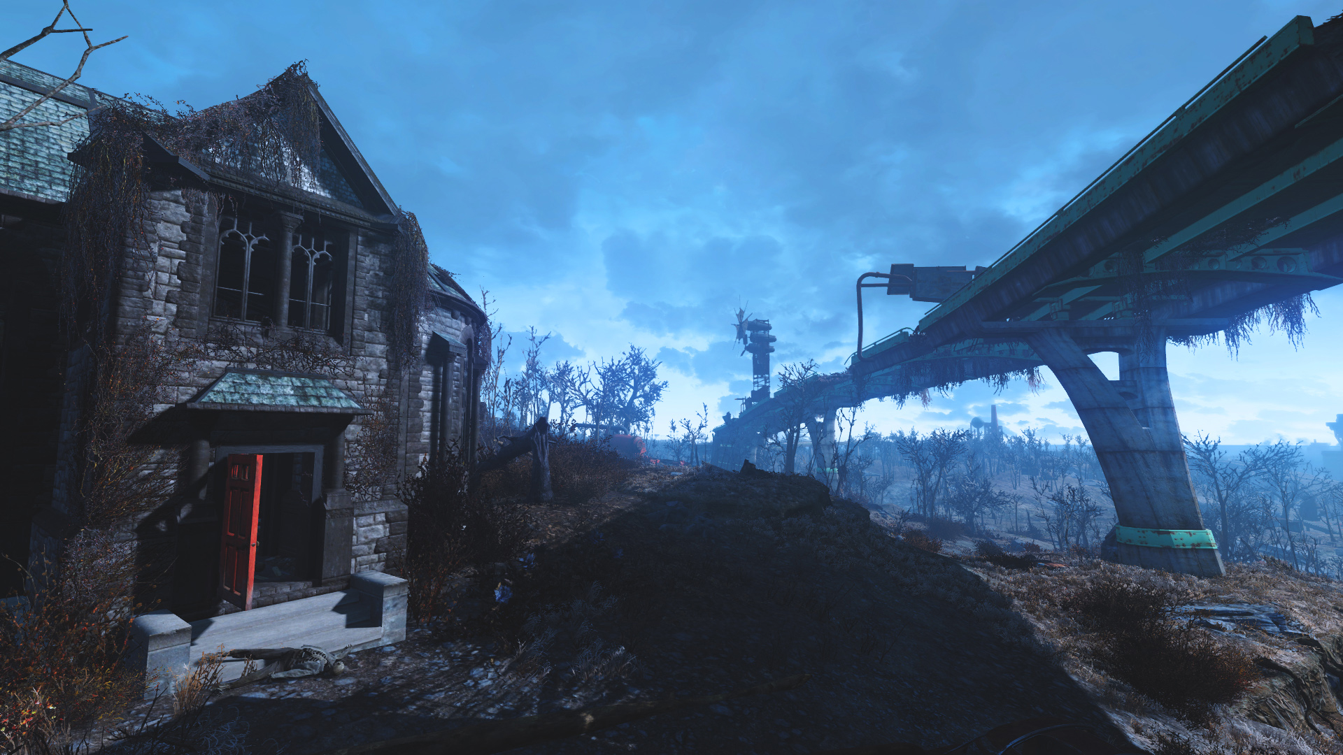 View Larger Image Fallout 4 HD Wallpaper Creepy House