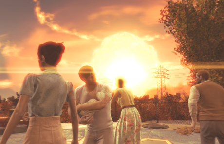 Fallout 4 HD Wallpaper Nuclear Explosion